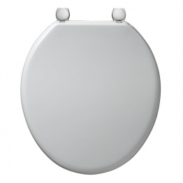Armitage Bakasan White Seat & Cover With Chrome Plated Fittings S406001