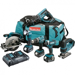 Makita 6 Piece Lxt 18v Cordless Combi Kit 3 X 5.0ah Li-ion Batteries Dlx6068pt