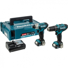 Makita Dlx2131jx1 10.8v Cordless Combi Drill & Impact Driver Twin Pack 2 X 2.0ahli-ion Batteries