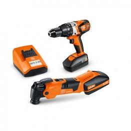 Fein 18v Cordless Combi Drill & Multi Tool Pack 2 X 2.5 Li-ion Batteries