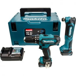 Makita Cxt 10.8v Cordless Combi Drill & Multi Tool Pack 2 X 2.0 Li-ion Batteries Clx203ajx1