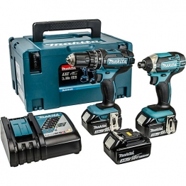 Makita Lxt 18v Cordless Combi Drill & Impact Driver Twin Pack 3 X 3.0ah Li-ion Batteries Dlx2131jx1