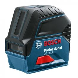 Bosch Gcl 2-15 Rm1 Combi Laser, Cross Line 2 Point Laser, Rm1 Mount & Target Plate