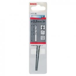 Bosch Hss-r Metal Drill Bit 2.5 X 30 X 57mm 2608596786