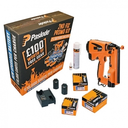 Paslode Im65 Li-ion Gas Powered Cordless Angled Brad Nail Gun & Accessories Kit 923398