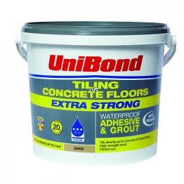 Unibond Tiling On Concrete Floors Waterproof Adhesive & Grout Beige 5l