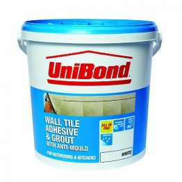 Unibond All Purpose Wall Tile Adhesive & Grout White 10l