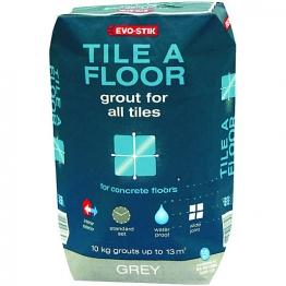 Evo-stik Tile A Floor Grout For All Tiles Grey 10kg