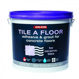 Evo-stik Adhesive & Grout For Concrete Floors Grey 5l