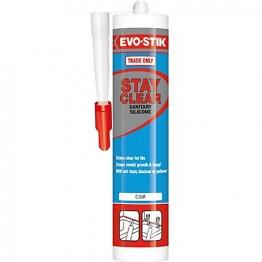 Evo-stik Stay Clear Sanitary Silicone Sealant White