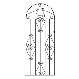 Burbage Cb41 Classic Scroll Tall Bow Top Metal Garden Gate Fits 838mm Gap X 1791mm High Black Colour
