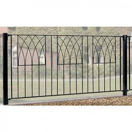 Burbage Ab01 Abbey Modern Metal Black Fence Panel 815mm X 1830mm