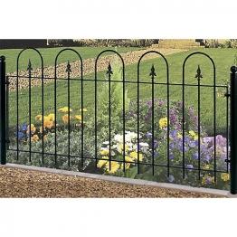 Burbage V01 Village Hoop Top Metal Green Fence Panel 914mm X 1830mm
