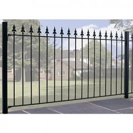Burbage Sa01 Saxon Spear Top Metal Black Fence Panel 950mm X 1830mm