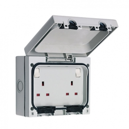 Smj Outdoor Ip66 Twin Switched Socket