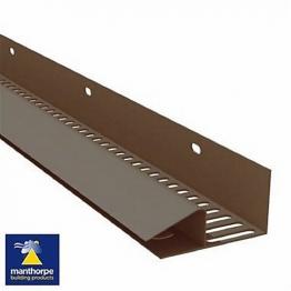 Manthorpe Continuous Soffit Strip 25mm Brown G825br