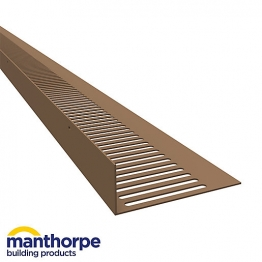 Manthorpe Flat Roventilator 25mm Brown G827br
