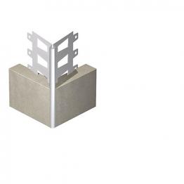 Expamet External Galvanised Steel With White Pvc Nosing Angle Bead 20mm 3m