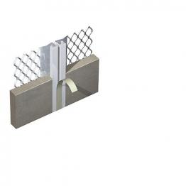 Expamet External Galvanised Steel With White Pvc Nosing Movement Bead 21mm 3m