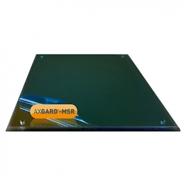 Axgard Msr Mirror Glazing Sheet 6mm 490 X 320mm With Quarter Round Cnc Edge And Corner Holes