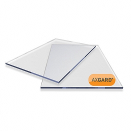 Axgard Clear Glazing Sheet 8mm Uv 620mm X 1240mm