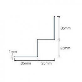 Cedral Internal Corner L=3m Alu C18 Slate Grey