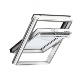 Velux Centre Pivot Roof Window 1340mm X 980mm White Painted Ggl Uk04