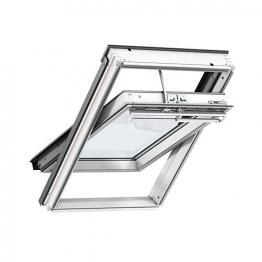 Velux Integra Electric Centre Pivot Roof Window 780mm X 1180mm White Painted Ggl Mk06 207021u