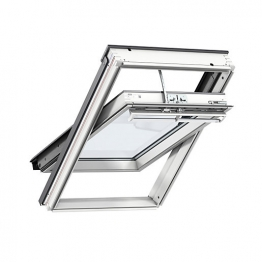 Velux Integra Electric Centre Pivot Roof Window 940mm X 1600mm White Painted Ggl Pk10 207021u