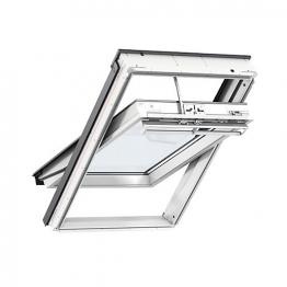 Velux Integra Electric Roof Window 550mm X 980mm White Polyurethane Ggu Ck04