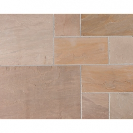 Marshalls Riven Fairstone Natural Sandstone Autumn Bronze Multi Paving Pack 275mm X 275mm X 22mm