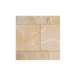 Marshalls Riven Fairstone Natural Sandstone Golden Sand Multi Paving Slab 560mm X 275mm X 22mm