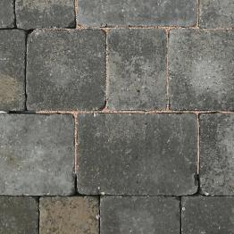 Charcon Woburn Concrete Block Paving Rumbled 134mm X 134mm X 80mm Medium Graphite
