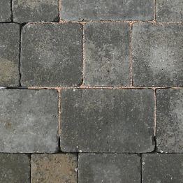 Charcon Woburn Concrete Block Paving Rumbled 100mm X 134mm X 80mm Small Graphite