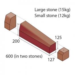 Marshalls Keykerb Klhb/ksbn Drop Crossing Kerb 2 Stones Right Hand Red