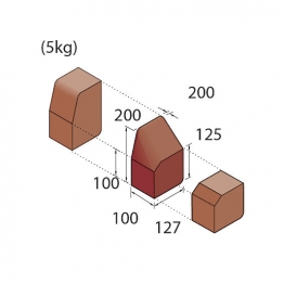 Marshalls Keykerb Klhb/kssp Drop Cross 2 Stones Lh Brindle Pv7301750