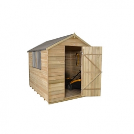 Apex Overlap Pressure Treated Shed 8 X 6