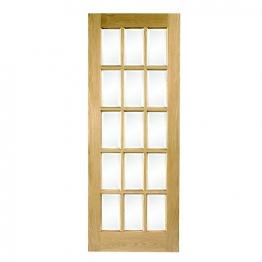 Hardwood Oak Sa77 15 Light Glazed Internal Door Height 1981mm