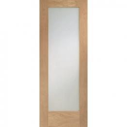 Hardwood Oak Shaker Pattern 10 Clear Glazed Internal Door Height 1981mm