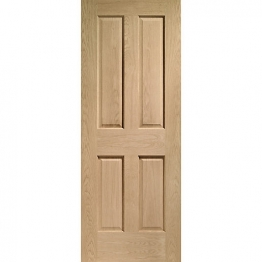 Hardwood Oak Victorian 4 Panel Internal Door 2032mm X 813mm X 35mm