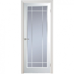 Moulded Manhattan 10 Light Arch Top Textured White Leaded Standard Core Internal Door Height 1981mm