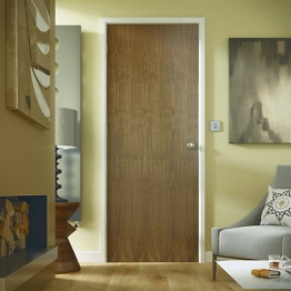 Int Flush Walnut Foil Plus Solid Core Door Height 1981mm X 35mm