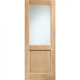 External Oak 2xg Clear Double Glazed Door (argon Filled Glazing)