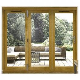 54mm Folding Doors Prefinished Solid Oak 12 Ft (3.6m)