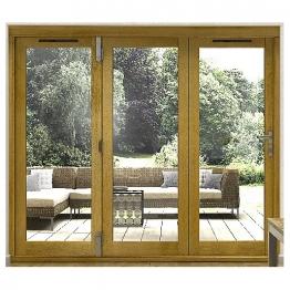 54mm Folding Doors Prefinished Solid Oak 8 Ft (2.4m)
