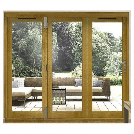 54mm Folding Doors Prefinished Solid Oak 10 Ft (3m)