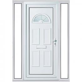 Carolina 2 Sidelight Upvc Doorset 1520mm Right Hand