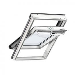Velux Integra Electric White Painted Centre Pivot Roof Window 550 X 980mm