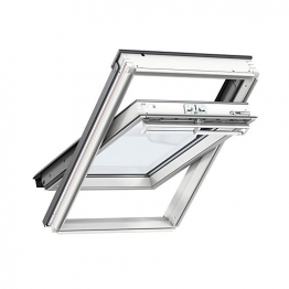 Velux Integra Electric Centre Pivot Roof Window 1340mm X 1400mm White Painted Ggl Uk08 207021u