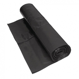 Visqueen Black Polythene Damp Proof Membrane Centrally Folded Bba 4m X 25m 300mu